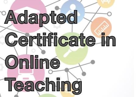 Adapted Certificate in Online Teaching
